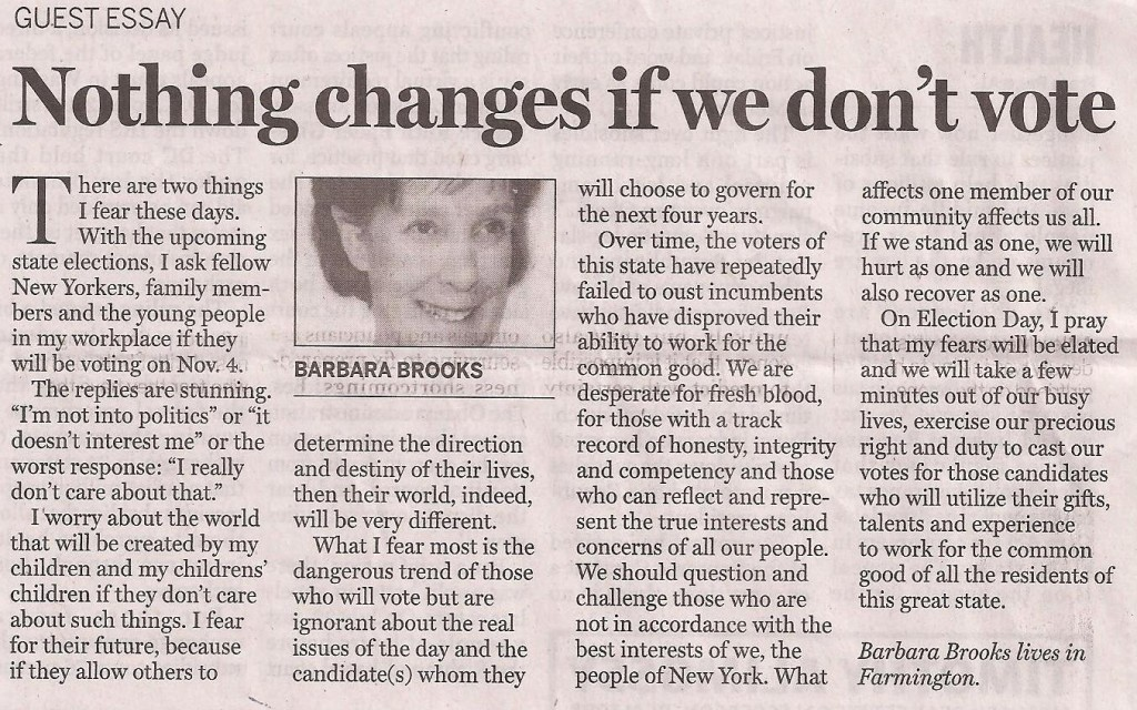 Barb Brooks on Voting