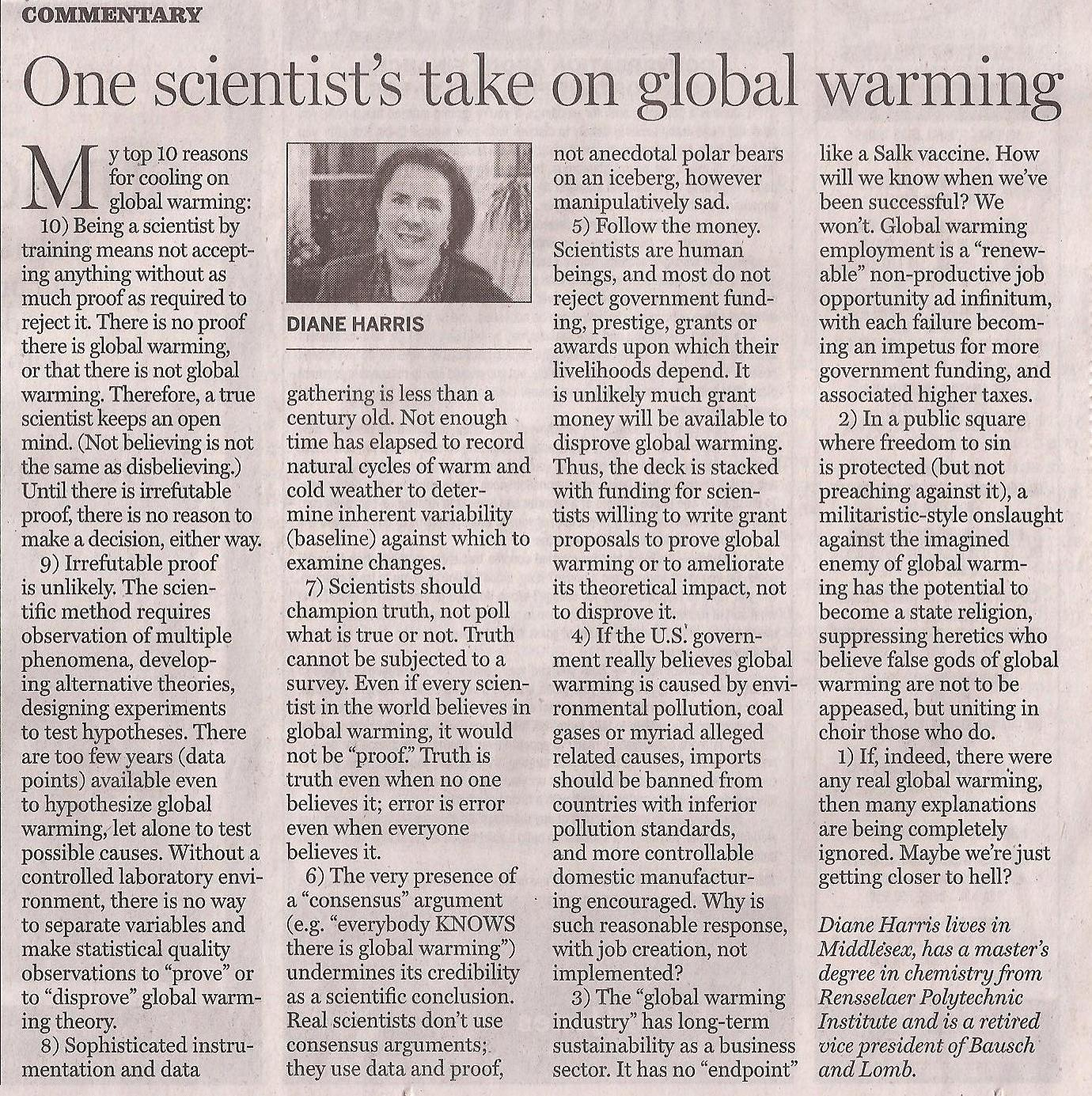 global warming is not a myth essay